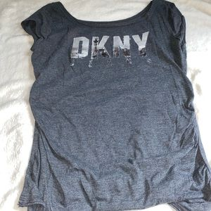 DKNY tee shirt rugged style lettering